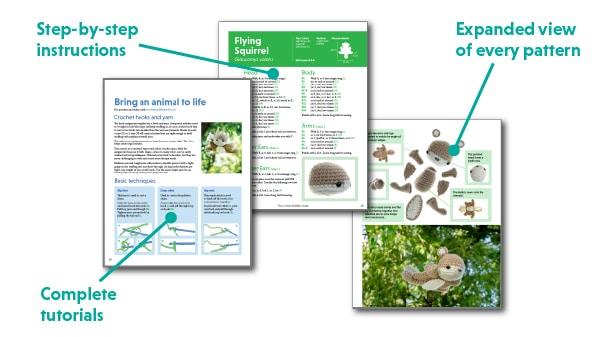 amigurumi basics from the crochet wildlife guide